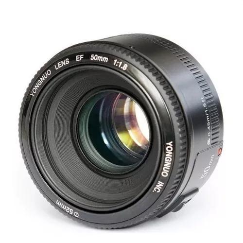 Lente ef 50mm f1.8 yongnuo para canon novo pronta entrega