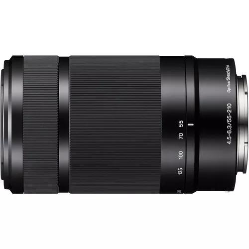 Lente sony e 55-210mm f/4.5-6.3 oss (sel55210) garantia novo