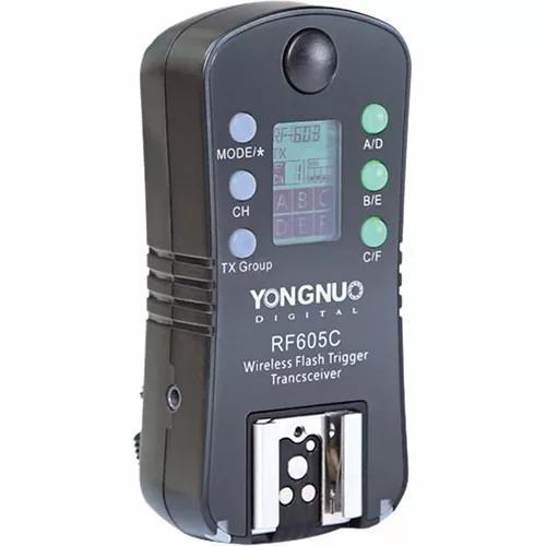Radio flash yongnuo rf-605c unitário - canon garantia novo