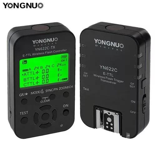 Rádio flash yongnuo - yn622c tx - kit e-ttl - yn 622 canon