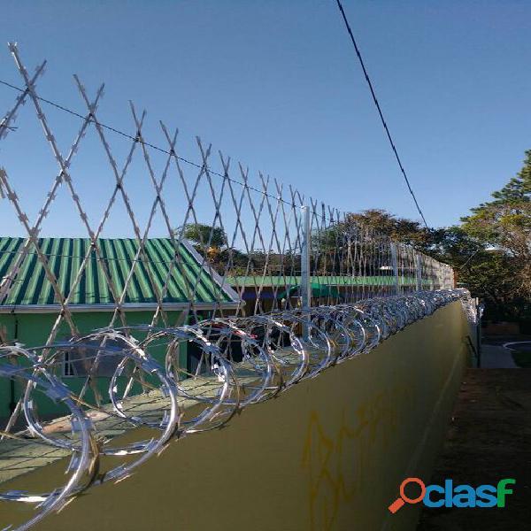 Cerca cortante  rede laminada com instalação