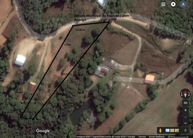 Vendo terreno medindo 3699 m2 em campo largo
