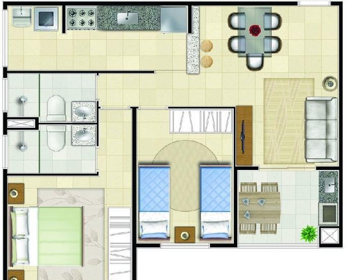 Apartamento em suzano 2dorm com suíte próx. ao centro