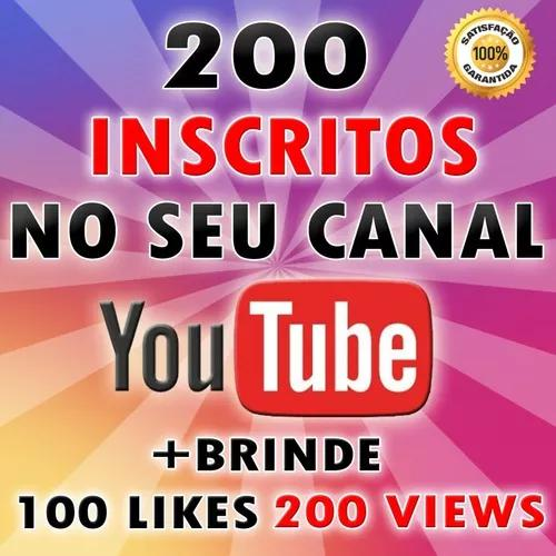 200 inscritos youtube - marketing para seu canal do youtube