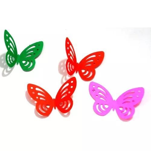 Aplique borboleta vazada