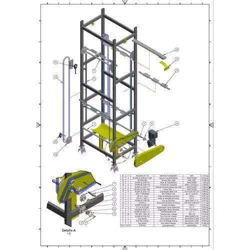 Projetista cad/cam print 3d inventor-solidworks