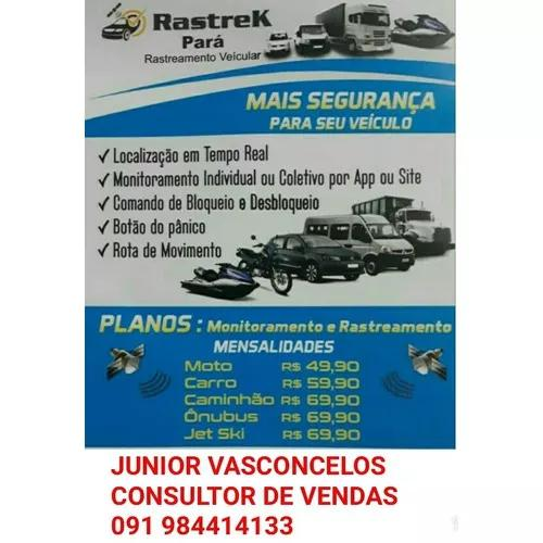 Rastrek monitoramento e bloqueio de veículos 24 horas