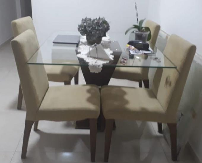 Vendo mesa vidro c4 cadeiras (sulacap)