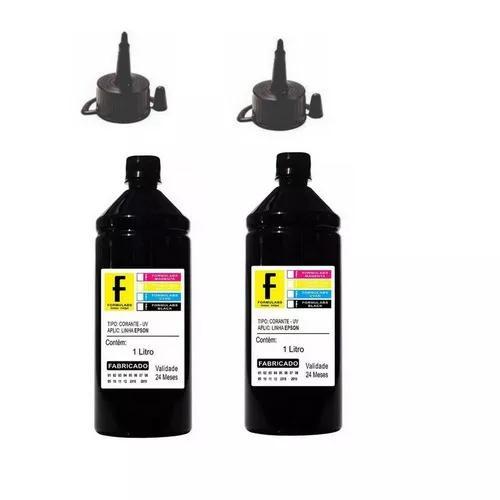 2 Litros De Tinta Preta Impressora L375 L380 L395 L455 L495