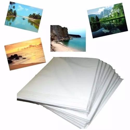 400 fls papel foto glossy brilho 120g (ou 115g a4) oferta
