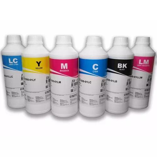 6 litros tinta corante inktec epson l800 l805 l1800 eu1000