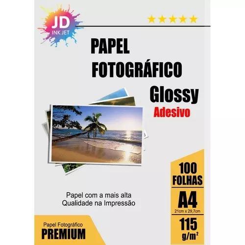 Foto adesivo 100un glossy photo paper à prova d´água 115g