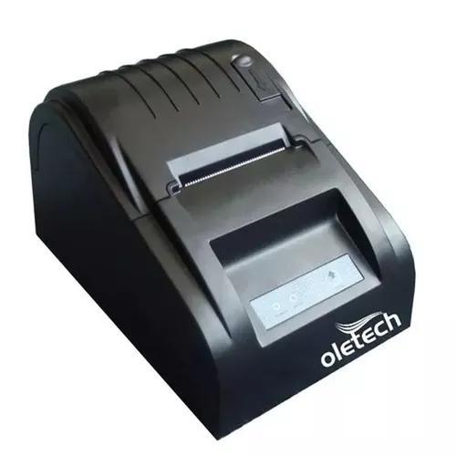 Impressora térmica usb oletech ot100 slim 58mm 57mm