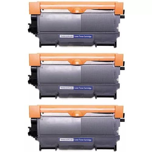Kit 3x cartucho toner tn450 tn420 tn410 novo hl2130 hl-2130