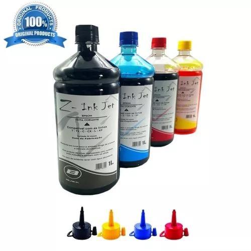 Kit 4 litros t664 impressora l495 l395 l656 l575 original