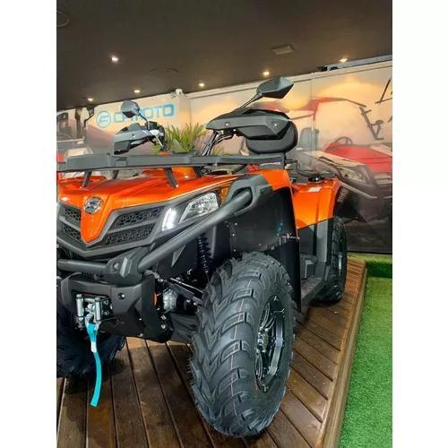 Quadriciclo cforce 520 l 4x4 automático laranja