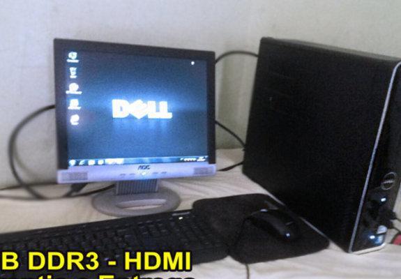 Computador completo dell + 4gb ddr3 - hdmi (entrega/garantia