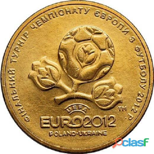 Moeda ucrânia comemorativa eurocopa 2012   1 hryvnia fc