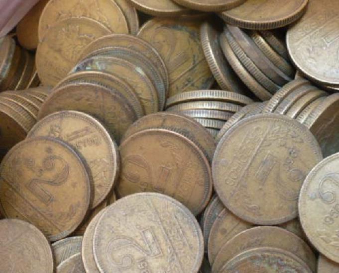 Compro moedas de 2 cruzeiros bronze-pago r$100 o quilo
