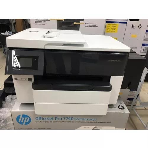 Impressora a3 hp 7740 + bulk ink + 2 litros de tinta