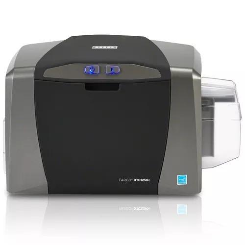 Impressora de cartão e crachá fargo dtc1250e single