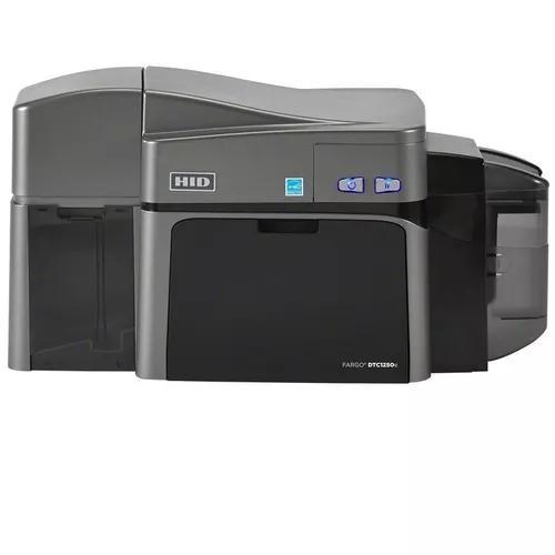 Impressora de cartão pvc e crachá fargo dtc1250e dual