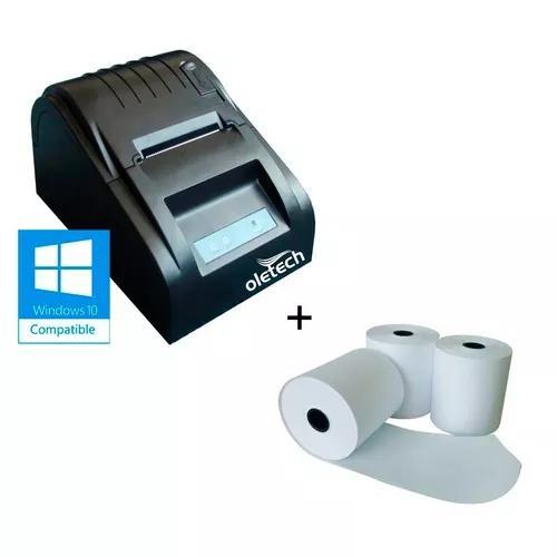 Impressora termica cupom não fiscal 58mm + 10uni bobina