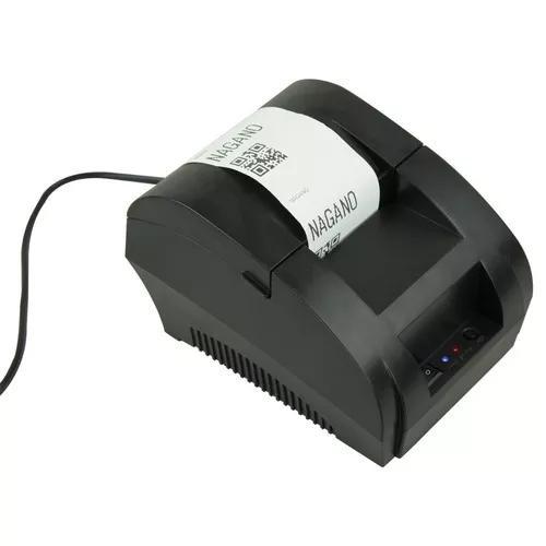 Mini impressora térmica usb portátil bivolt esc/pos 58mm
