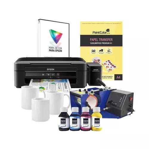 Máquina p/ estampas canecas 110v + impressora l380 +