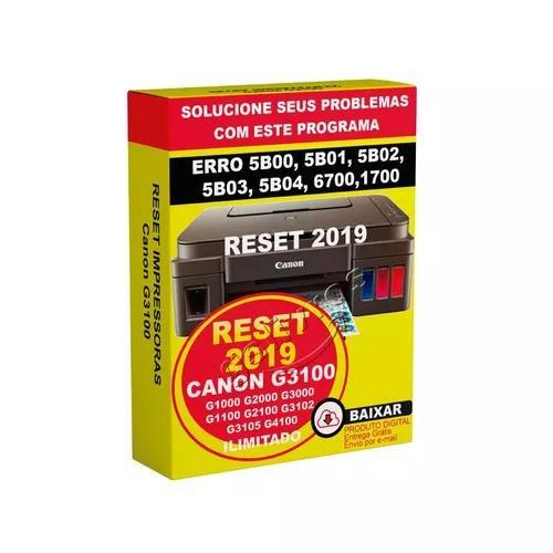 Reset Para Canon G3100 Erro 5b00 5bo2 Atualizado Não Expira