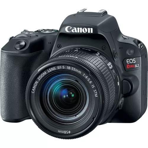 Canon rebel sl2 com lente 18-55mm nova 1 ano de garantia +nf