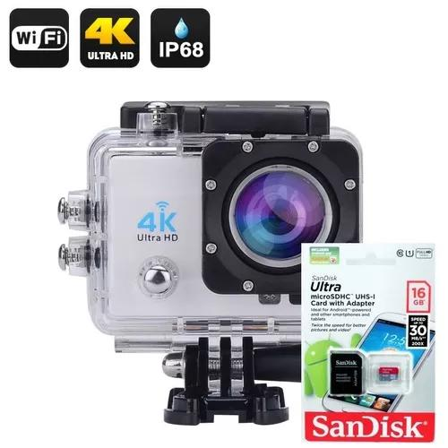 Câmera 4k wifi filmadora grátis cartão 16gb pronta
