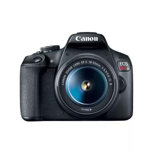 Câmera canon eos rebel t7 c/ lente 18-55mm is il