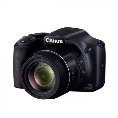 Câmera canon sx530hs 16mp/50x/wifi/nfc preto