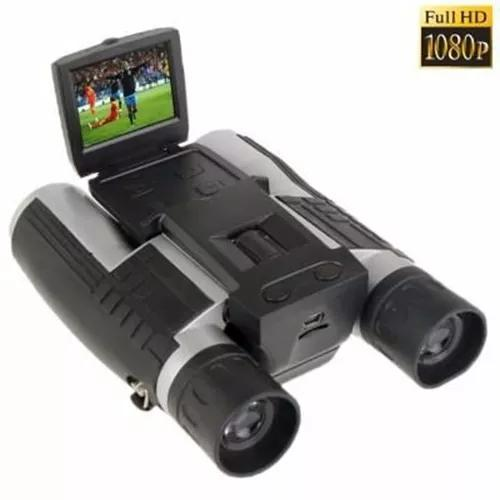 Câmera digital binóculo 5.0 lcd 2'' hd 1080 zoom 12x32