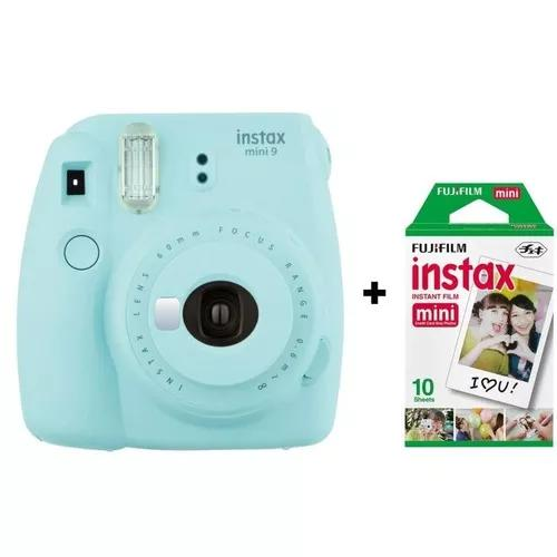 Câmera instantânea fujifilm instax mini 9 - azul água + b
