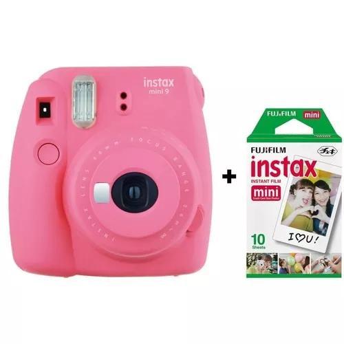 Câmera instantânea fujifilm instax mini 9 - rosa flamingo