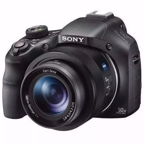 Câmera sony hx400 hx400v 20.4mp gps +32gb cl10+bolsa+tripé
