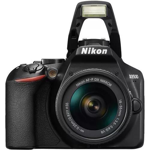 Kit nikon câmera lente d3500 18-55mm pronta entrega lojista