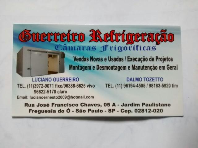 Montagem desmontagem camara frigorifica