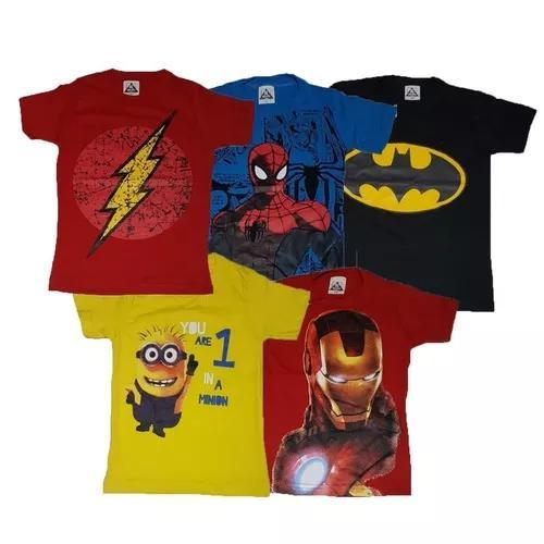 Atacado kit 10 camisetas infantil criança manga curta