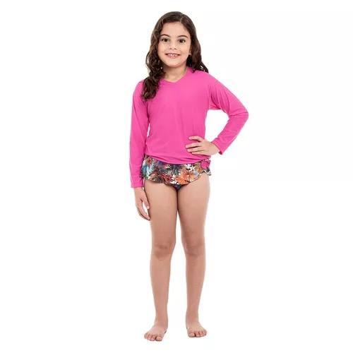 Blusa uv infantil stewardess pink