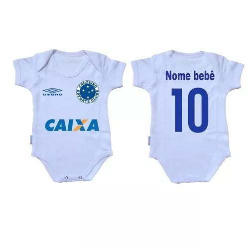 Body criança roupa bebê nenê time futebol cruzeiro minas