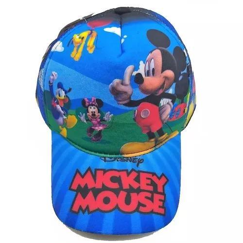6ee50a79815a5 Boné infantil mickey com redinha estampado chapéu