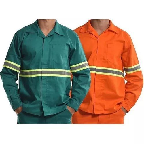 Camisa (jaleco) brim m/ longa 5 s