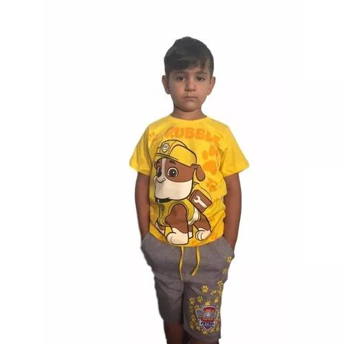 Conjunto infantil menino criança patrulha canina