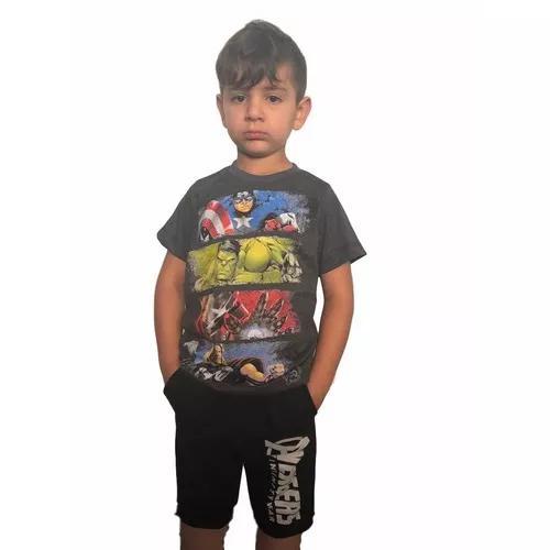 Conjunto infantil menino vingadores heroes marvel criança
