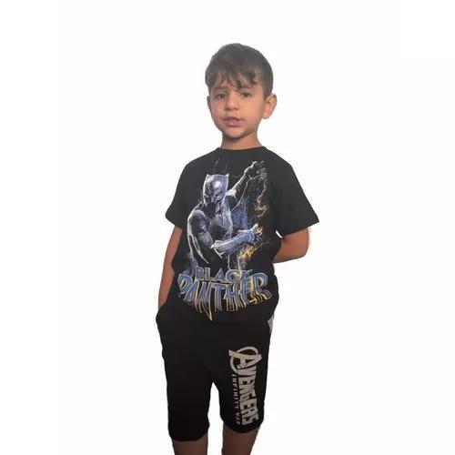Conjunto infantil pantera negra roupa de criança promoção