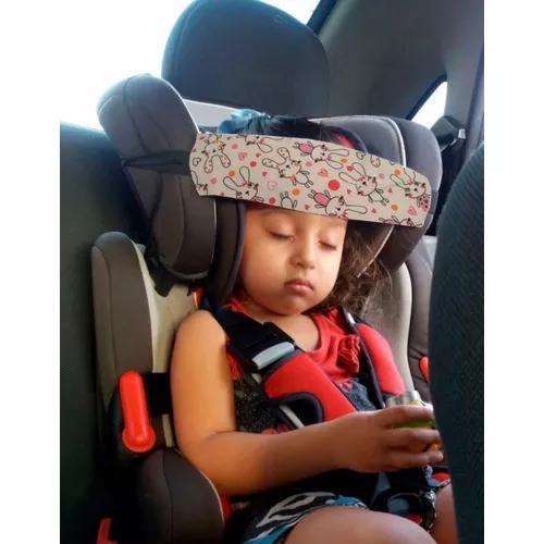 Faixa soninho segura cabeça protege o pescoço da criança