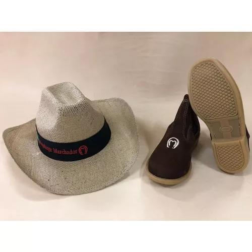 Kit infantil butina bota mangalarga + chapéu juta criança